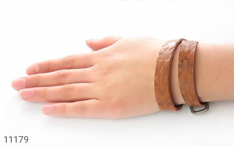 دستبند چرم طبیعی بلند و زیبا - تصویر 8