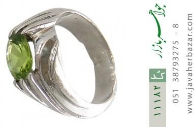 انگشتر زبرجد رکاب دست ساز - کد 11182
