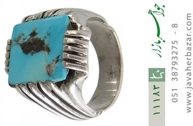 انگشتر فیروزه نیشابوری رکاب دست ساز - کد 11183