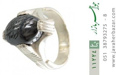 انگشتر حدید حکاکی هفت جلاله رکاب دست ساز - کد 11224