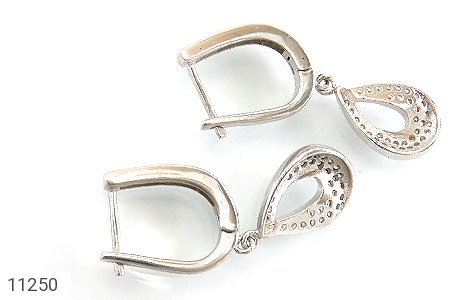 گوشواره نقره طرح جواهری زنانه - تصویر 2