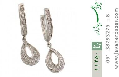 گوشواره نقره طرح جواهری زنانه - کد 11250