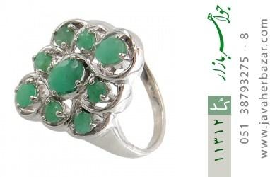 انگشتر زمرد درشت و پرنگین زنانه - کد 11312