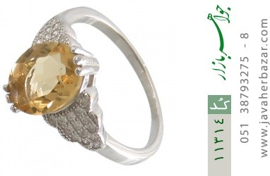 انگشتر سیترین طرح نگار زنانه - کد 11314