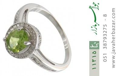 انگشتر زبرجد درخشان طرح سلنا زنانه - کد 11315