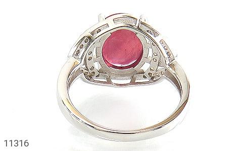 انگشتر یاقوت سرخ درشت خوش رنگ طرح بنیتا زنانه - تصویر 4