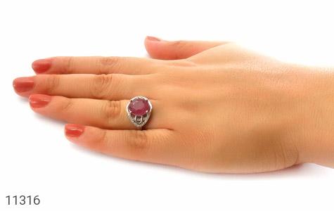 انگشتر یاقوت سرخ درشت خوش رنگ طرح بنیتا زنانه - عکس 7