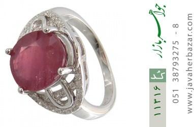 انگشتر یاقوت سرخ درشت خوش رنگ طرح بنیتا زنانه - کد 11316
