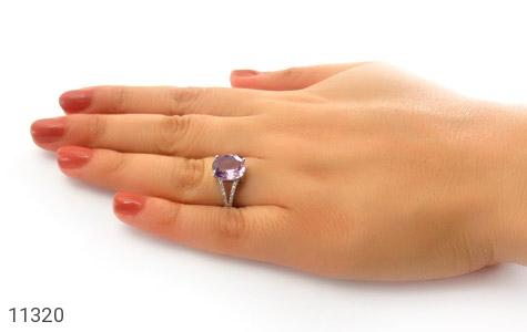 انگشتر آمتیست طرح یکتا زنانه - عکس 7