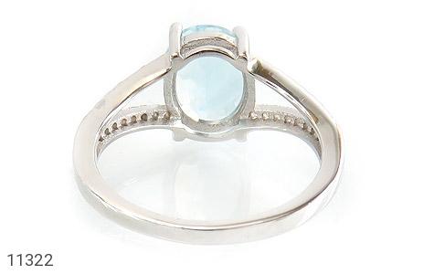 انگشتر توپاز آبی طرح نگار زنانه - تصویر 4