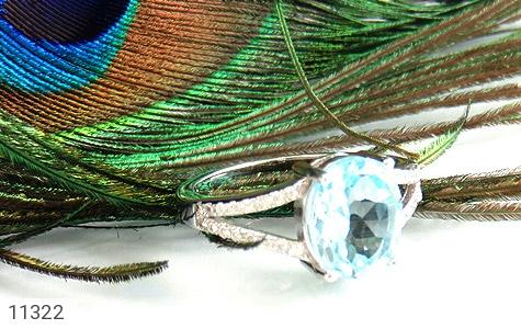 انگشتر توپاز آبی طرح نگار زنانه - عکس 5