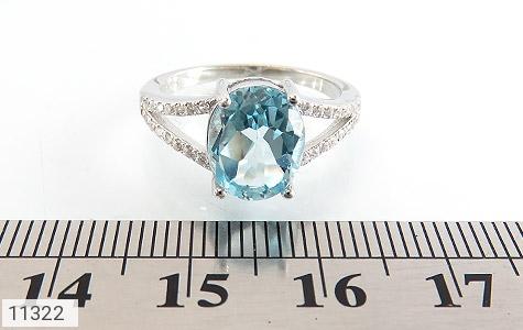 انگشتر توپاز آبی طرح نگار زنانه - تصویر 6