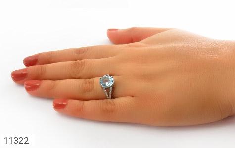 انگشتر توپاز آبی طرح نگار زنانه - عکس 7