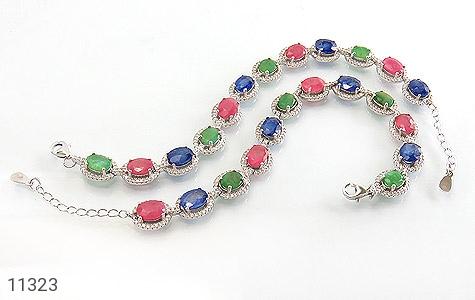 دستبند زمرد و یاقوت درشت و سلطنتی زنانه - عکس 3