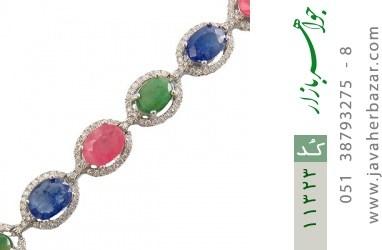 دستبند زمرد و یاقوت درشت و سلطنتی زنانه - کد 11323
