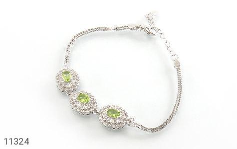 دستبند زبرجد طرح ارغوان زنانه - عکس 1