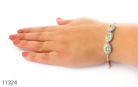 دستبند زبرجد طرح ارغوان زنانه - عکس 5