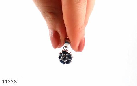 مدال یاقوت کبود طرح گل زنانه - عکس 5