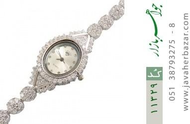 ساعت نقره آب رودیوم طرح فلاور زنانه - کد 11329