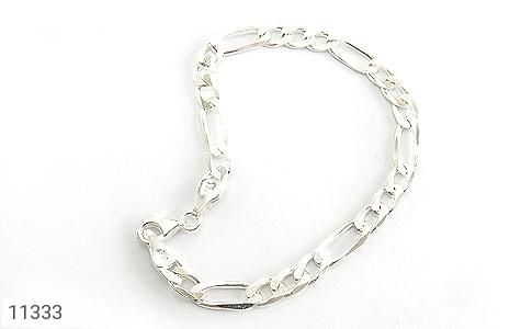 دستبند نقره اسپرت و شیک مردانه - تصویر 2