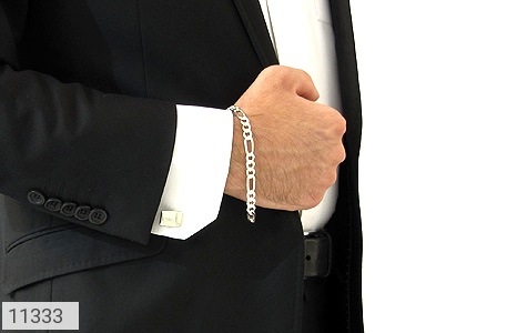 دستبند نقره اسپرت و شیک مردانه - تصویر 4