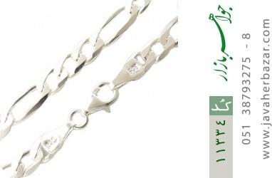 دستبند نقره اسپرت و درشت مردانه - کد 11334