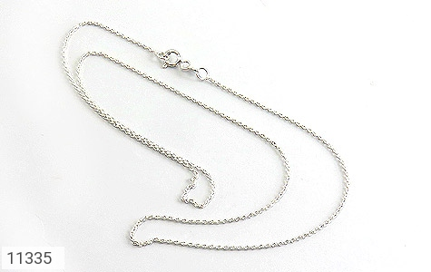 زنجیر نقره ظریف طرح حلقه - عکس 1
