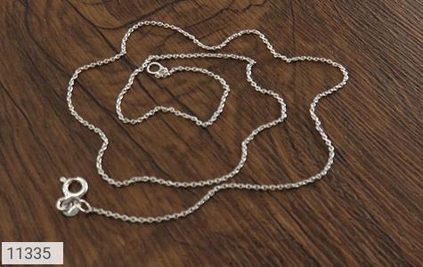 زنجیر نقره ظریف طرح حلقه - عکس 3