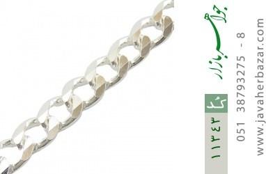 دستبند نقره درشت مردانه - کد 11343