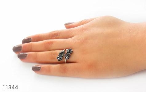 انگشتر یاقوت کبود فری سایز زنانه - عکس 7