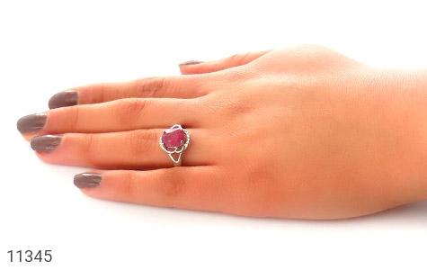 انگشتر یاقوت سرخ طرح مهشاد زنانه - عکس 7