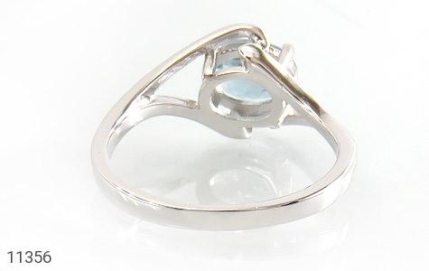 انگشتر توپاز آبی طرح پگاه زنانه - تصویر 4