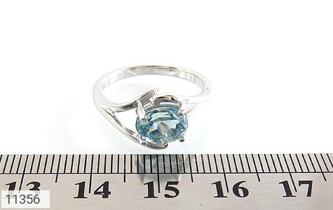 انگشتر توپاز آبی طرح پگاه زنانه - تصویر 6