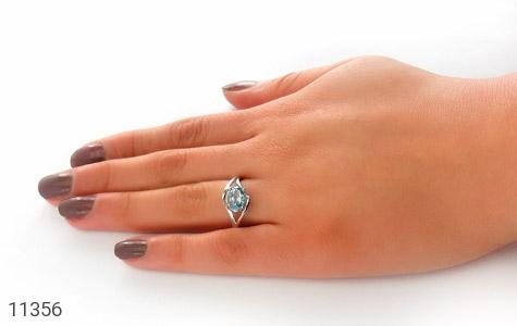 انگشتر توپاز آبی طرح پگاه زنانه - عکس 7