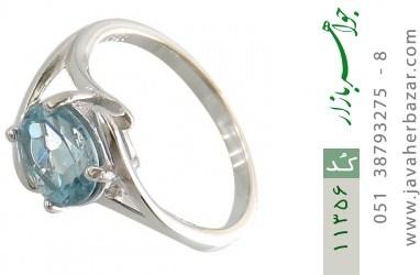 انگشتر توپاز آبی طرح پگاه زنانه - کد 11356