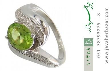 انگشتر زبرجد طرح پیچ زنانه - کد 11358