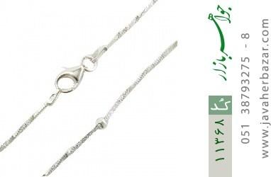 زنجیر نقره طرح خط نقطه 44 سانتی زنانه - کد 11368