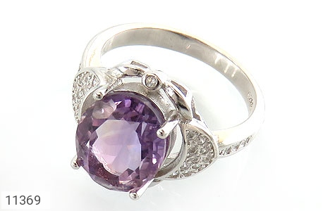انگشتر آمتیست طرح شهرزاد زنانه - عکس 1