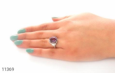 انگشتر آمتیست طرح شهرزاد زنانه - عکس 7