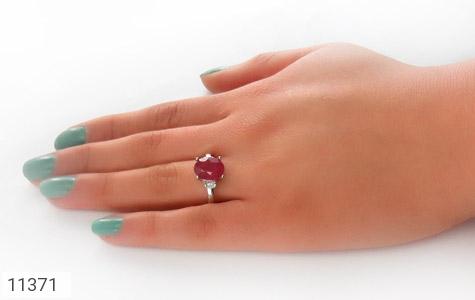 انگشتر یاقوت سرخ طرح مهلا زنانه - عکس 7