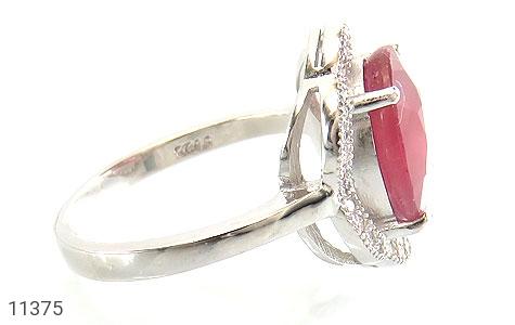 انگشتر یاقوت سرخ طرح عروس زنانه - عکس 3