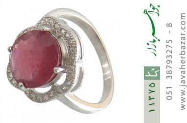 انگشتر یاقوت سرخ طرح عروس زنانه - کد 11375