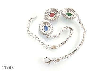 دستبند یاقوت و زمرد ارزشمند طرح شمس زنانه - تصویر 2