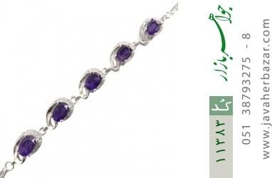 دستبند آمتیست فاخر و مجلسی زنانه - کد 11383