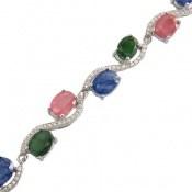 دستبند یاقوت و زمرد باشکوه و جذاب زنانه