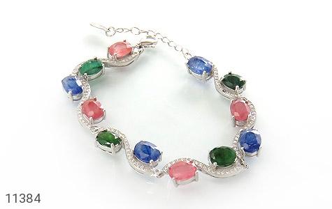 دستبند یاقوت و زمرد باشکوه و جذاب زنانه - عکس 1