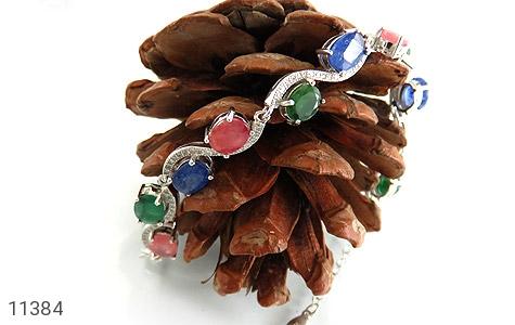 دستبند یاقوت و زمرد باشکوه و جذاب زنانه - تصویر 4
