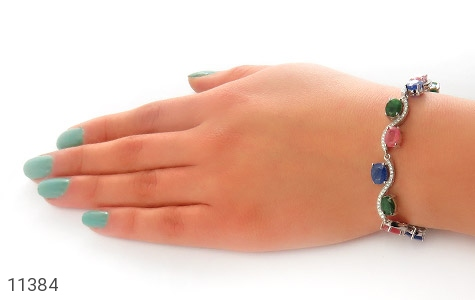 دستبند یاقوت و زمرد باشکوه و جذاب زنانه - عکس 5