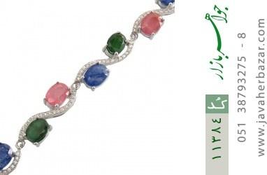 دستبند یاقوت و زمرد باشکوه و جذاب زنانه - کد 11384