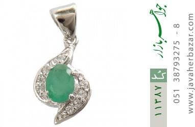 مدال زمرد طرح گلرخ زنانه - کد 11387